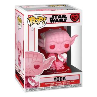 Funko POP Star Wars: Valentines - Yoda w/Heart [HRAČKA]